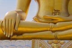 菩萨图象雕象的手 库存照片