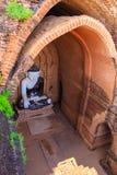 菩萨图象,在缅甸(Burmar)的Bagan 库存照片