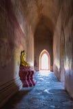 菩萨图象,在缅甸(Burmar)的Bagan 图库摄影
