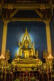 菩萨图象, wat Benchamabophit寺庙,曼谷在泰国 免版税库存图片