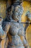 菩萨在石头,婆罗浮屠encarved 免版税库存图片