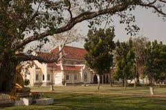 菩萨在Bodhi树下在Wat Niwet Thammaprewat泰国 库存图片