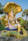 菩萨坐的形象,北碧,泰国 免版税库存图片