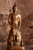 菩萨坐的雕象 图库摄影