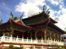 菩萨寺庙,民都鲁,沙捞越,婆罗洲海岛 库存图片