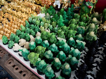 菩萨小雕象待售在曼谷 图库摄影