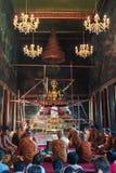 菩萨教堂雕象 免版税库存图片