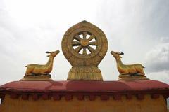 菩萨教学大昭寺寺庙的在西藏 库存图片