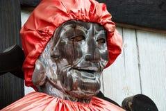 菩萨木的colse雕象 免版税库存图片