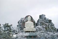 菩萨未完成的雕象登上的Kachkanar在乌拉尔 图库摄影