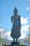 菩萨李在寺庙, Phayao泰国的la雕象 库存图片