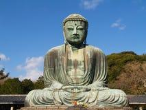 菩萨极大的镰仓雕象 免版税库存照片