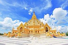 菩萨牙遗物塔,仰光,缅甸 库存照片