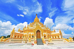 菩萨牙遗物塔,仰光,缅甸 库存图片
