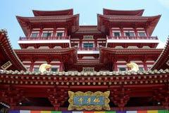 菩萨牙遗物寺庙和博物馆-新加坡 库存照片