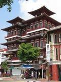 菩萨牙遗物寺庙和博物馆-新加坡 库存图片