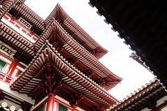 菩萨牙遗物寺庙在唐人街 库存图片