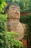 菩萨瓷大leshan雕象 免版税图库摄影