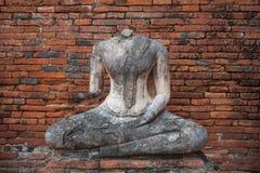 菩萨的图象没有头, Wat Chaiwatthanaram,阿尤特拉利夫雷斯的 免版税库存图片