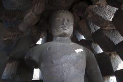 菩萨的扔石头的图象在塔 免版税图库摄影