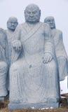 菩萨石雕象  图库摄影
