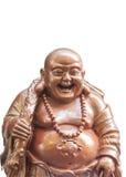 菩萨笑的雕象 库存图片