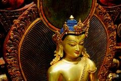菩萨释伽牟尼的雕塑 免版税库存图片