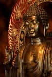 菩萨金雕象 库存照片