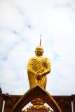 菩萨金黄雕象 库存照片