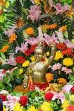 菩萨铜雕象  免版税库存图片