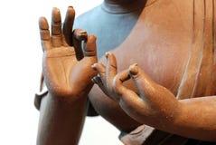 菩萨陶瓷雕象 免版税图库摄影
