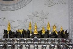 菩萨雕象中国寺庙或Wat Borom王侯Kanjanapisek 库存图片