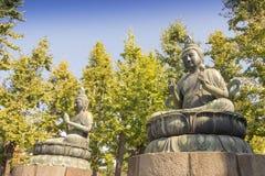 菩萨雕象在东京,日本 免版税库存照片