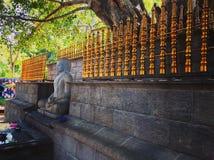 菩萨雕象在斯里兰卡 库存图片