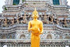 菩萨雕象在黎明寺泰国 免版税图库摄影