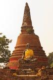 菩萨雕象在Ayuddhaya泰国 免版税图库摄影