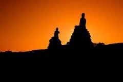 菩萨雕象在Ayudhaya 库存照片