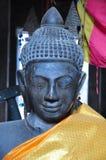 菩萨雕象在Banteay Kdei,在柬埔寨 免版税图库摄影