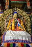 菩萨雕象在Kharkhorin Erdenzuu修道院,蒙古里 库存照片