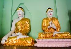 菩萨雕象在Shwedagon塔,仰光 库存图片