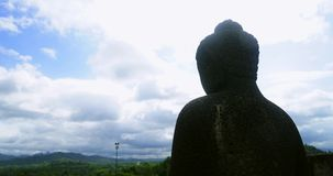 菩萨雕象时间间隔在婆罗浮屠寺庙的 股票录像