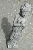 菩萨雕象有灰色背景 库存图片