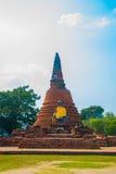 菩萨雕象的大面孔在Watyaichaimongkol大城府,泰国的 免版税库存图片