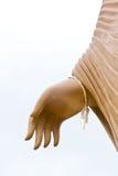 菩萨雕象的手 库存图片