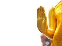 菩萨雕象的手 免版税库存照片