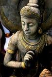 菩萨雕象石头泰国 免版税库存照片