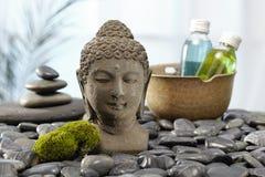 菩萨雕象,热的石头 免版税库存照片