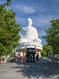 菩萨雕象,长的Shaun塔,芽庄市,越南 免版税库存照片