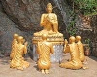 菩萨雕象-琅勃拉邦老挝 库存照片