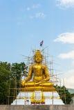 菩萨雕象建设中,泰国。 图库摄影